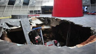 Illustration for article titled There's A Sinkhole Under The Corvette Museum And It's Swallowing Cars