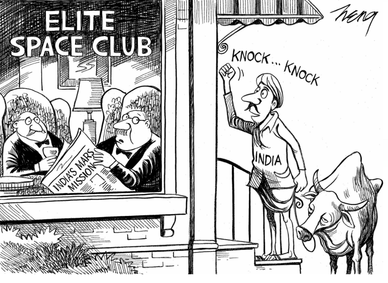 Illustration for article titled New York Times Apologizes For Racist Cartoon On India's Space Program