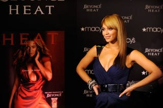 Beyoncé at the launch of her perfume Heat.