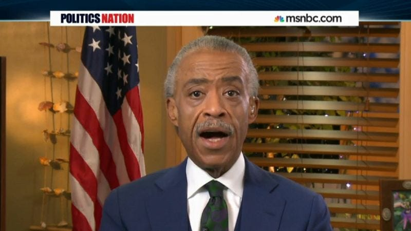 Illustration for article titled Reverend Al Sharpton Takes Time Off From Holy Duties To Make TV Appearance