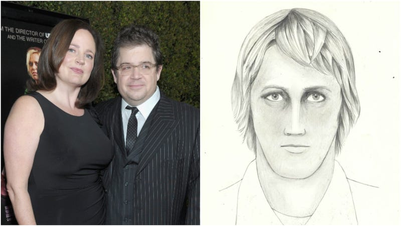 McNamara and Oswalt in 2011 (L); One of three FBI composite sketches of the killer (R)