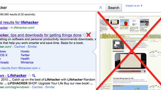 Illustration for article titled Hide Google Instant Previews With an AdBlock Filter