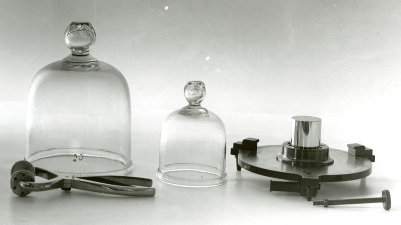 A U.S. copy of the standard kilogram.
