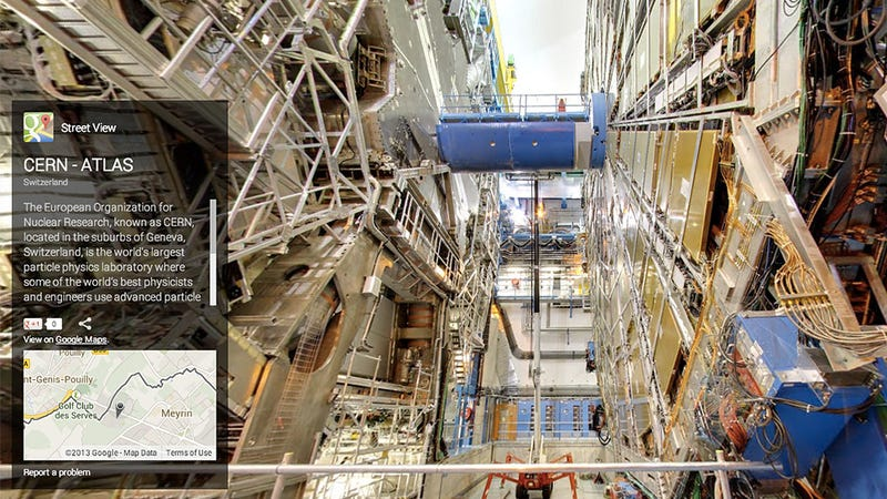 Illustration for article titled You Can Now Explore the Large Hadron Collider on Street View