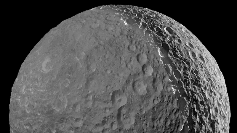 Our last stunning close up of saturn 39 s 39 death star moon 39 - Moon close up ...