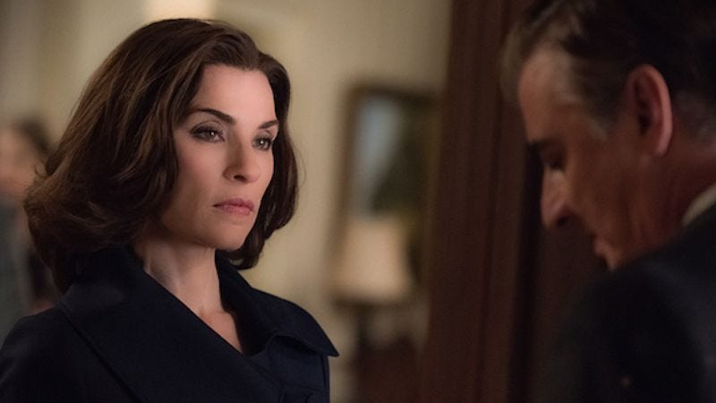 Illustration for article titled Alicia Florrick finally drops the d-word