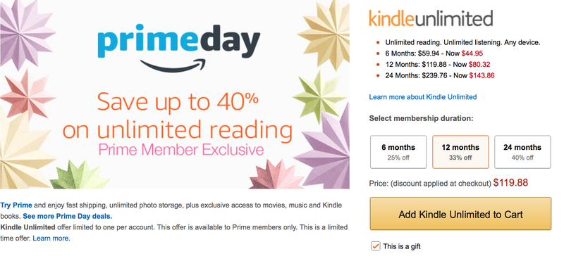 25-40% off Kindle Unlimited