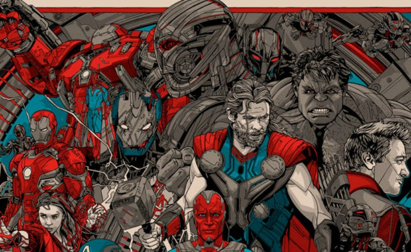 Illustration for article titled This Avengers: Age of Ultron Poster Perfectly Represents That Manic Marvel Movie