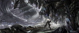 Illustration for article titled A Haunting Alien Cathedral, From Transformers 2 Concept Art