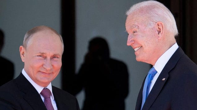 Biden Wags Finger at Putin Over Human Rights and Cyberattacks, Then Gives Him Crystal Buffalo