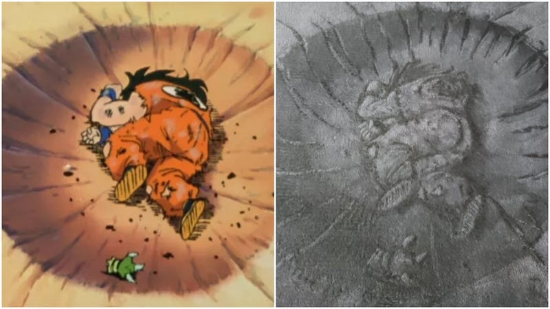 """Illustration for article titled Dragon Ball's """"Death Pose"""" Fan Art With An Unusual Spin"""