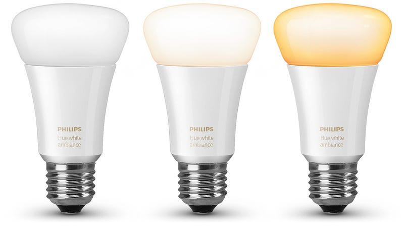 Illustration for article titled You Can Tweak the Warmth of Philips' New White Hue Bulbs To Help You Fall Asleep