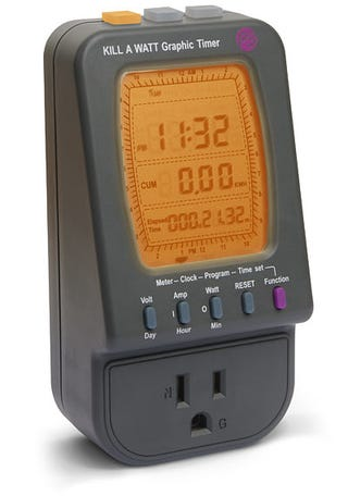 Illustration for article titled Kill-A-Watt's Updated Graphical Version Has Programmable Timer