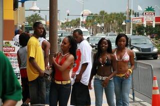 The scene during a Black College Reunion in Daytona Beach, Fla.Facebook