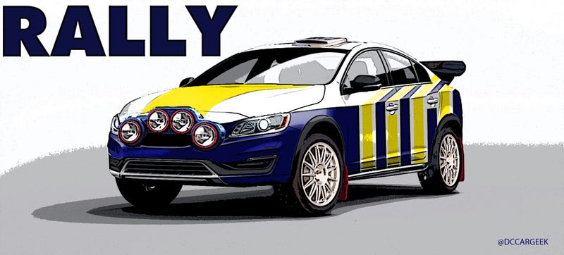 Illustration for article titled Rally All The VOLVOS