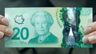 Illustration for article titled Canada's new hi-tech $20 bill has the wrong maple leaf on it
