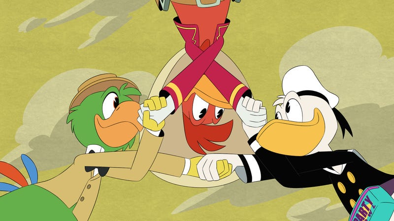 Illustration for article titled Donald reunites with his old Three Caballeros compadres in a wildly fun and visually impressive DuckTales