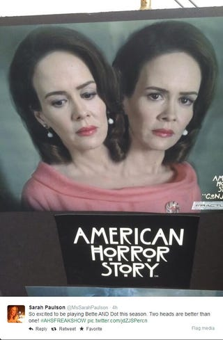 Illustration for article titled First Image of Sarah Paulson in AHS: Carnival!