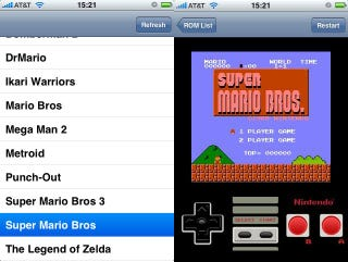 Illustration for article titled iPhone NES Emulator Third Party App