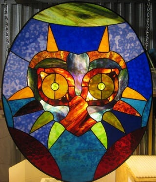 Illustration for article titled Majora's Mask-Themed Stained Glass