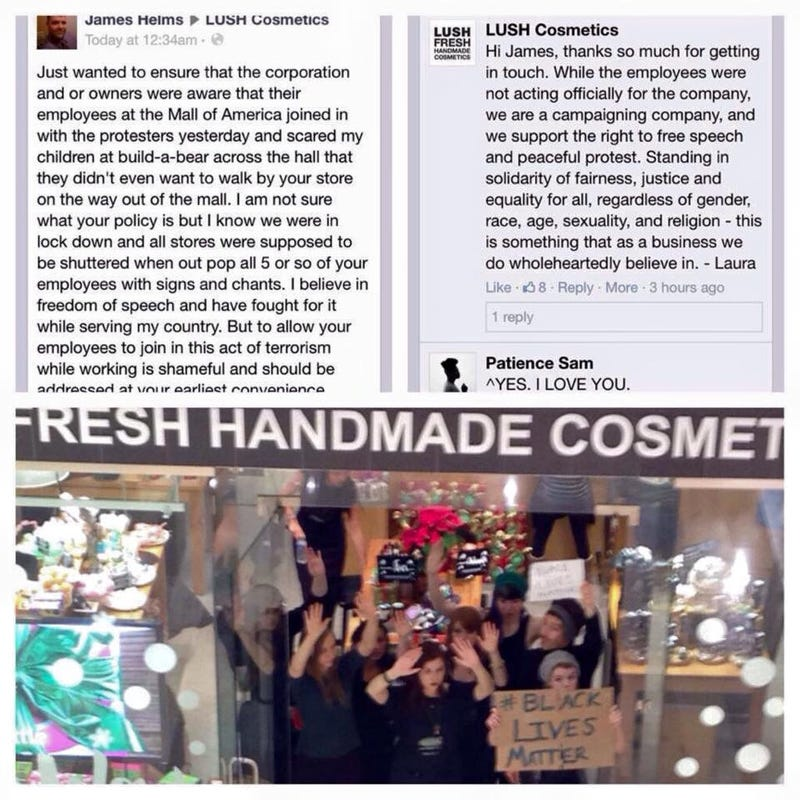 Illustration for article titled Lush Supports Employees who took Part in MoA Protest