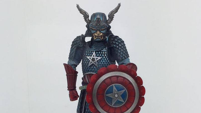 Illustration for article titled Try Not to Think Too Much About This Weird and Wonderful Samurai Captain America Figure
