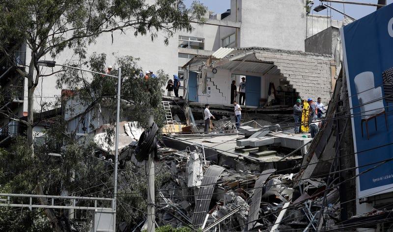 Imágenes tras el terremoto que tuvo lugar ayer martes. AP