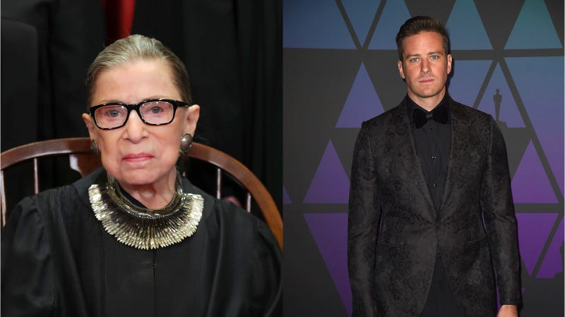 Illustration for article titled Ruth Bader Ginsburg and Armie Hammer Should Get Married