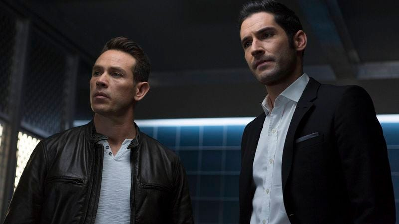 Kevin Alejandro (left), Tom Ellis
