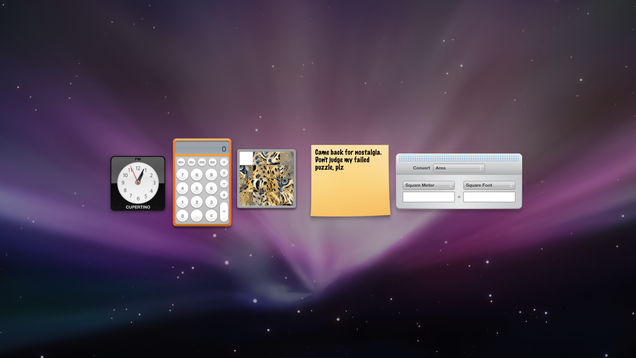 Go Back in Time and Use the Old macOS Dashboard Widgets With This Cool Website