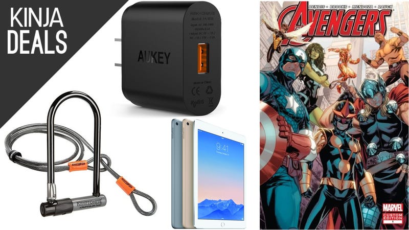 Illustration for article titled Saturday's Best Deals: Bike Lock, Quick Charger, Free Comics, and More