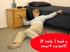 Illustration for article titled Smart Carpet Can Help Seniors Who Fall and Can't Get Up