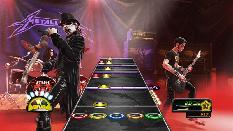 Illustration for article titled Guitar Hero: Metallica's King Diamond In Evil Polygons