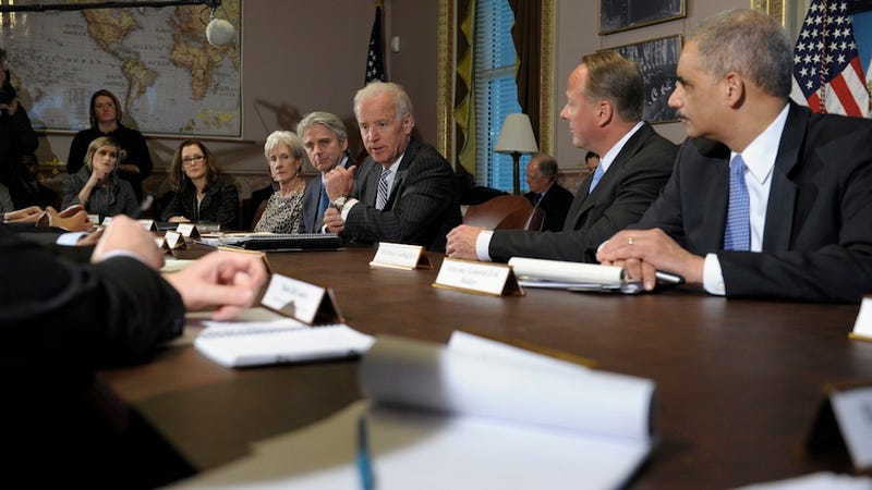 Illustration for article titled Joe Biden Sat Down With Gaming's Leaders Today, And One Of Them Brought A Copy of Blastman III