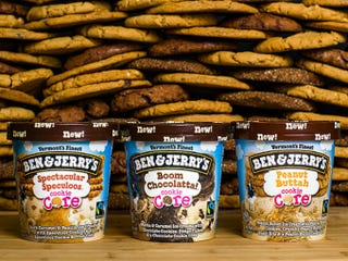 Illustration for article titled Ben & Jerry's Just Released Cookie Butter Core Ice Cream