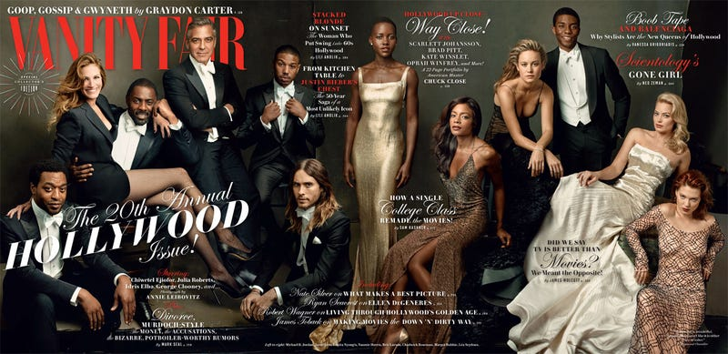 Illustration for article titled Black Actors Finally Appear on Cover of Vanity Fair's Hollywood Issue
