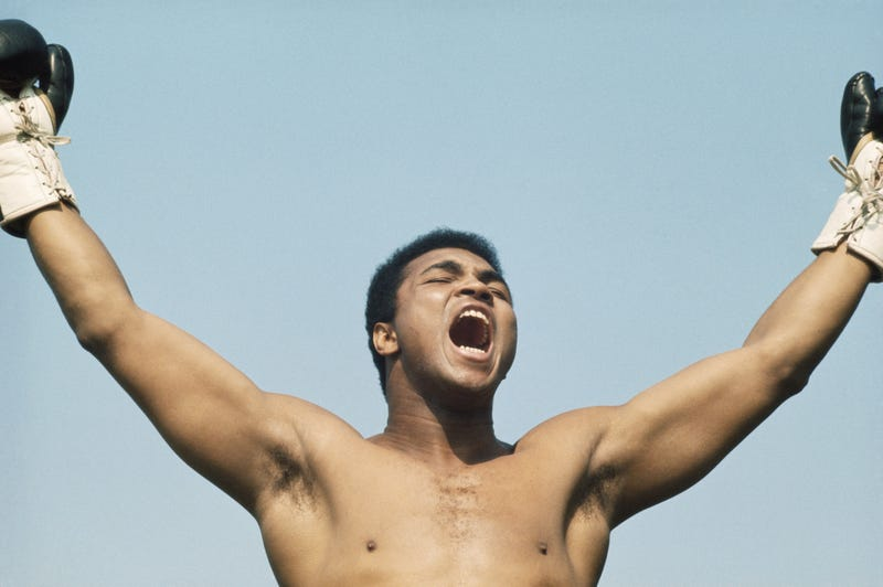 """Muhammad Ali during training for his fight with Al """"Blue"""" Lewis in Dublin in 1972. Getty Images"""