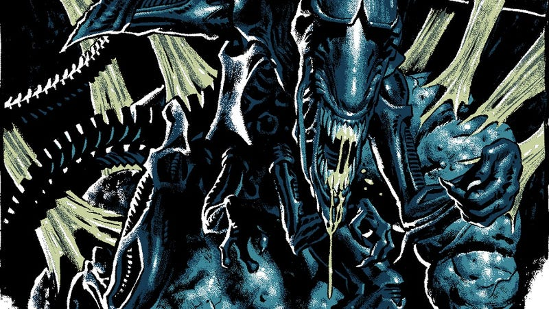 Illustration for article titled The Queen from Aliens poses for her Mondo portrait
