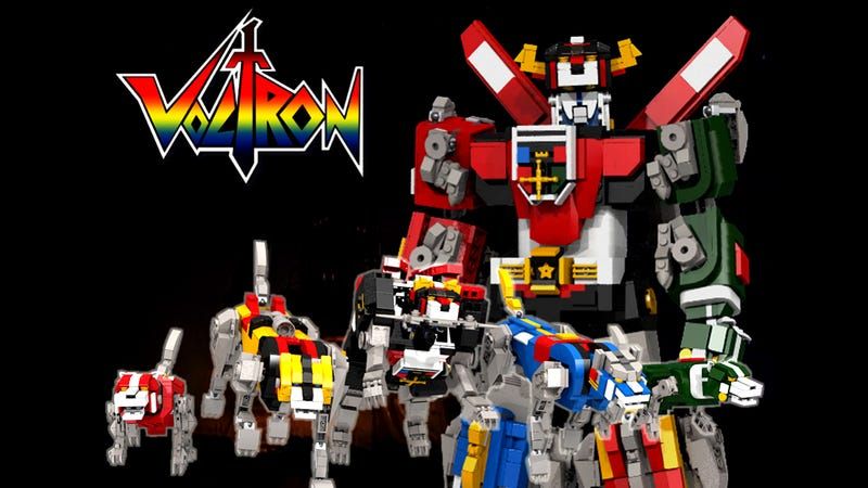 Illustration for article titled An Old-School Voltron Set Is Officially Coming to Lego