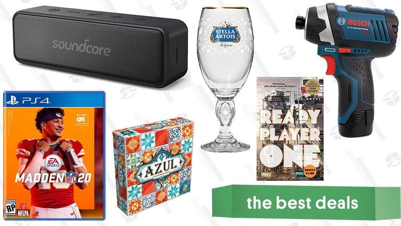 Illustratie voor artikel getiteld Sunday's beste deals: waterdichte luidspreker, Bosch Tools, DIY Ice Cream, Kindle Bestsellers en meer