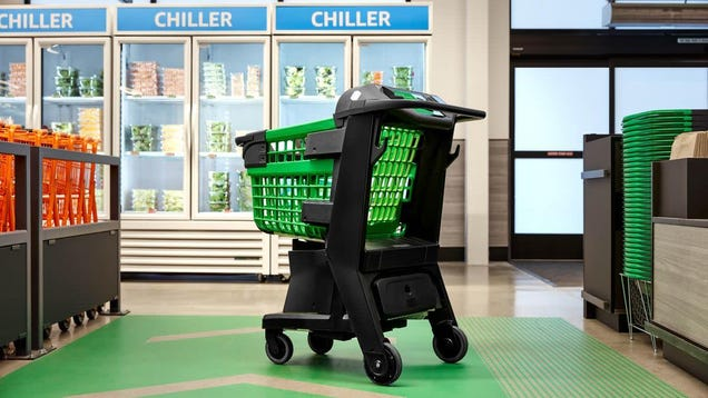 Amazon s Next Big Bet on Cashless Shopping Is a Smart Grocery Cart