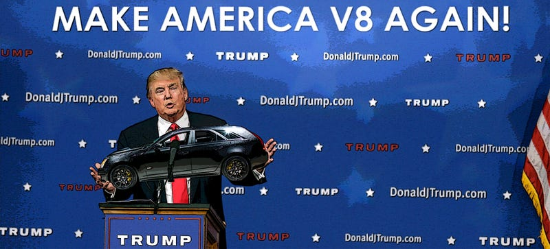 Illustration for article titled Trump Calls for Return of Eight Cylinder Engines in America