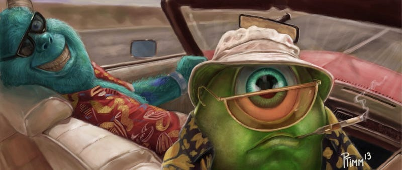 Illustration for article titled Monster S. Thompson stars in Fear and Loathing in Monstropolis