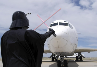 Illustration for article titled Denver Airport Invaded by Darth Vader & Stormtroopers