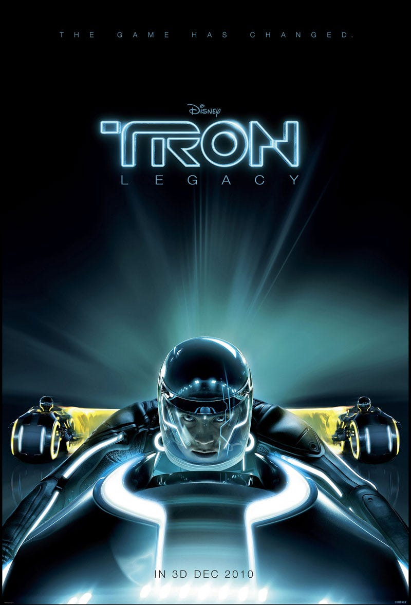 Illustration for article titled The First Official Poster, Screenshot and Synopsis of Tron Legacy