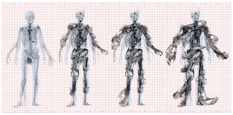 Illustration for article titled These Cancer-Deformed Skeletons Are Inspiring the Design of a Building