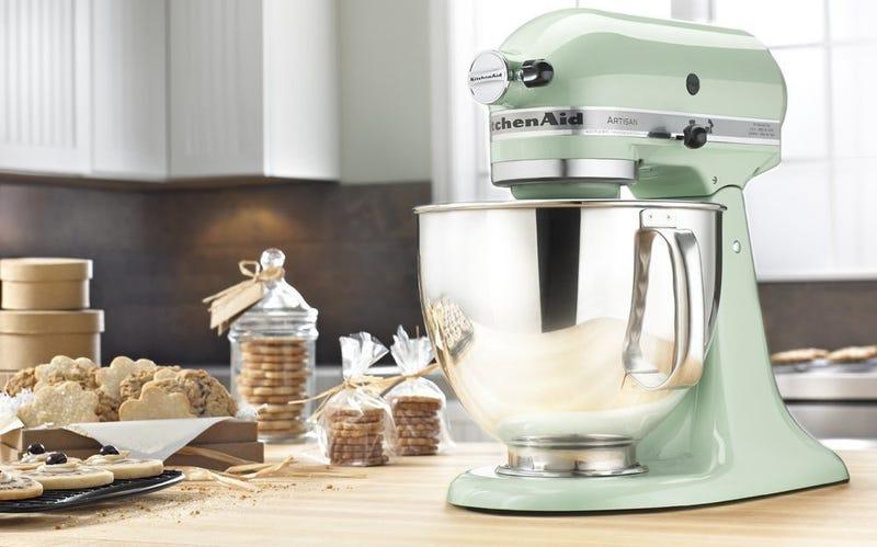 KitchenAid Artisan Series 5-Qt. Stand Mixer - Almond Cream | $210 | AmazonKitchenAid Artisan Series 5-Qt. Stand Mixer - Pistachio | $210 | AmazonKitchenAid Artisan Series 5-Qt. Stand Mixer  - Majestic Yellow | $210 | Amazon