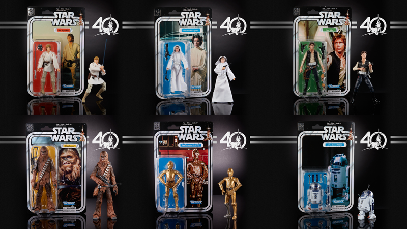 hasbro's 40th anniversary star wars figures are an amazing throwback