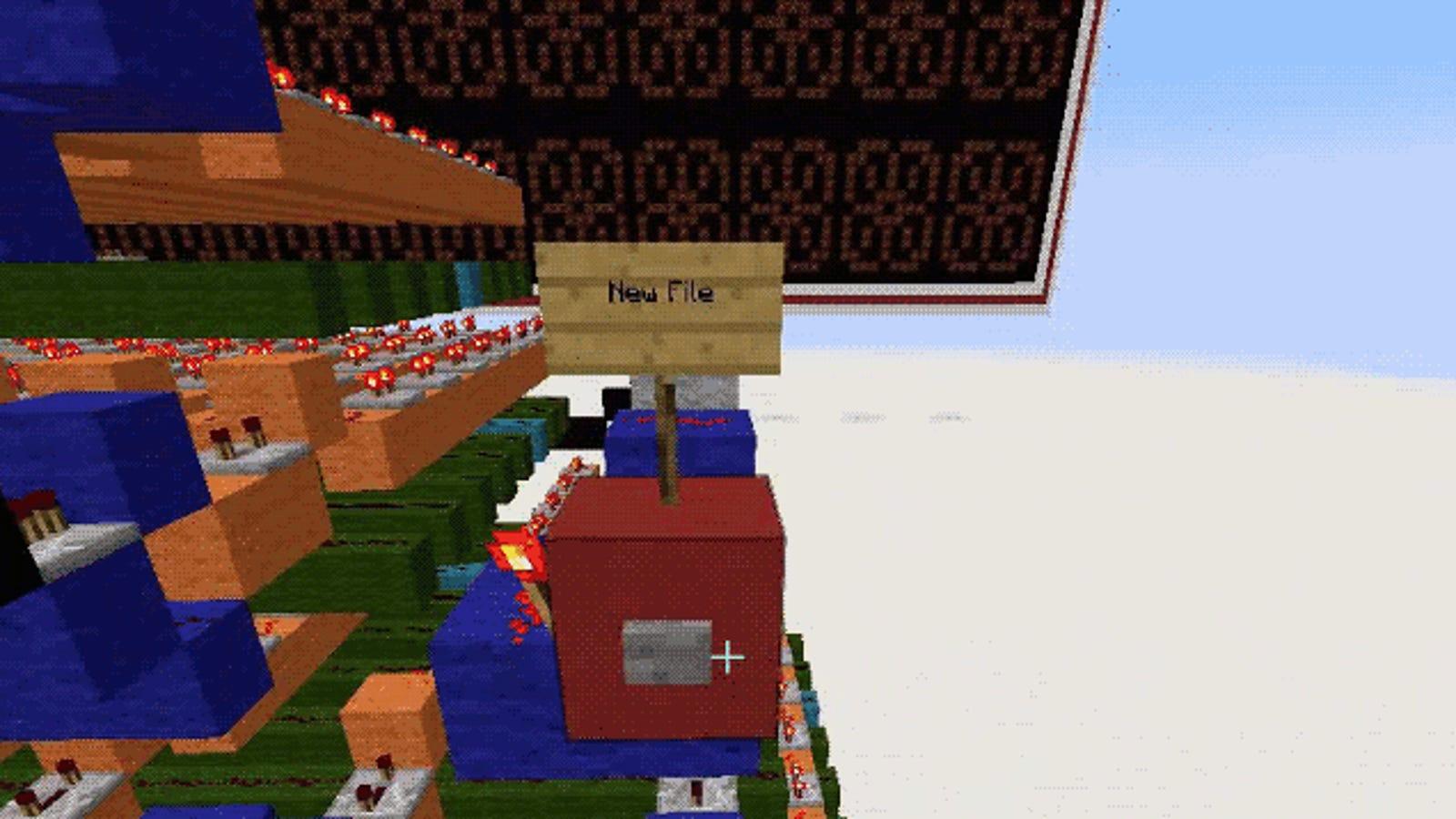 Un genio del Minecraft crea un procesador de texto dentro del juego