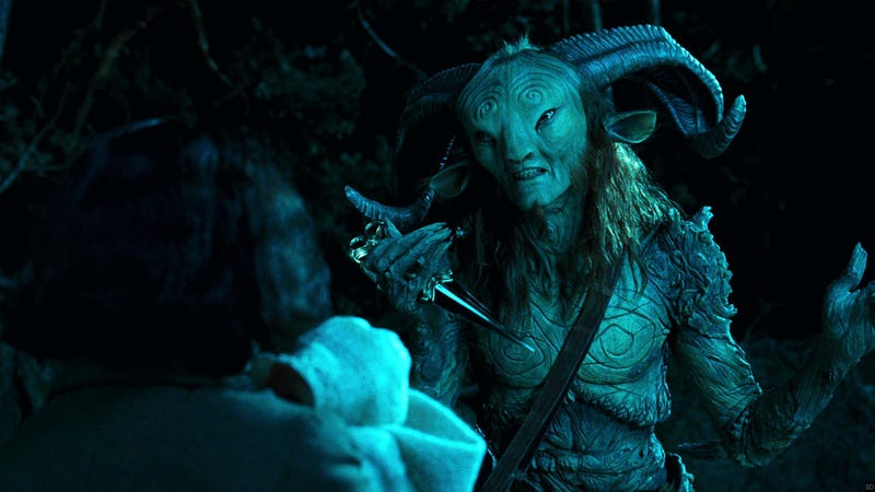 The Faun and Ofelia in Pan's Labyrinth.